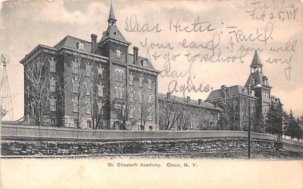 St Elizabeth Academy Olean, New York Postcard