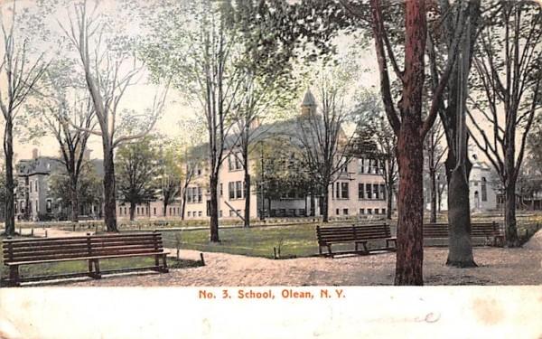 No 3 School Olean, New York Postcard