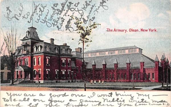 The Armory Olean, New York Postcard