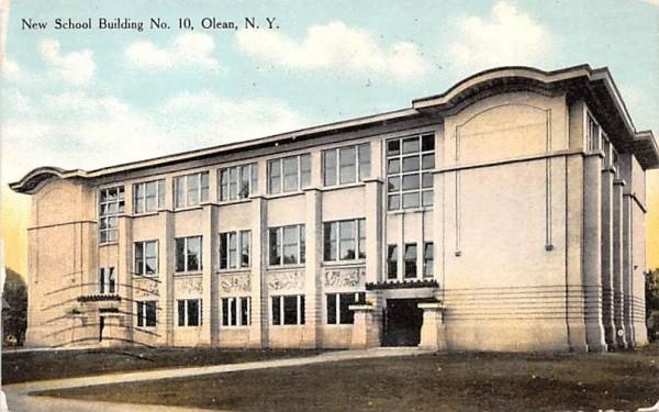 New School Building No 10 Olean, New York Postcard