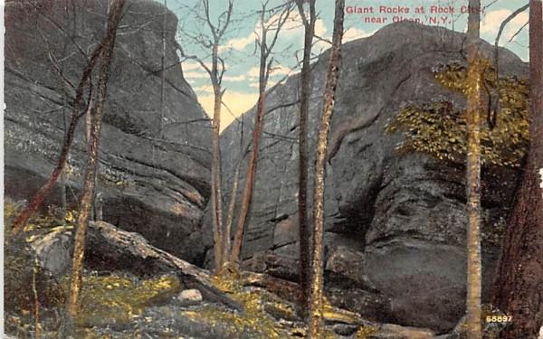 Giant Rocks at Rock City Olean, New York Postcard