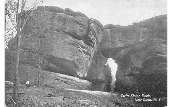Twin Sister Rock Olean, New York Postcard