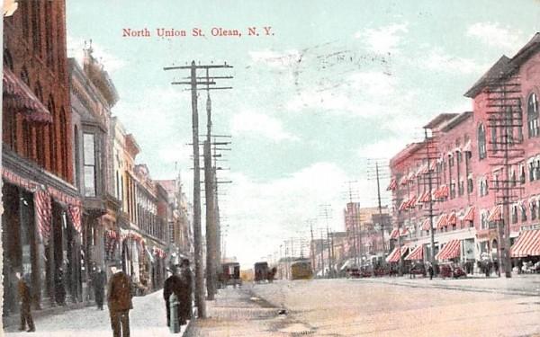 North Union St Olean, New York Postcard
