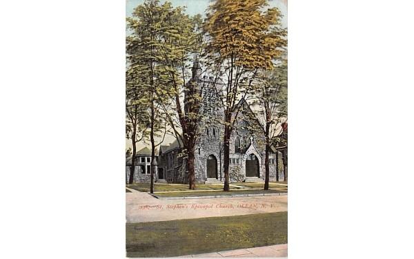 St Stephen's Episcopal Church Olean, New York Postcard