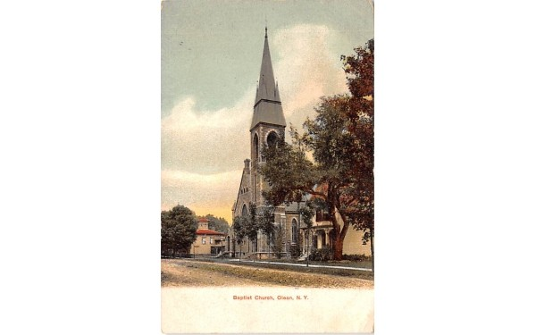 Baptist Church Olean, New York Postcard