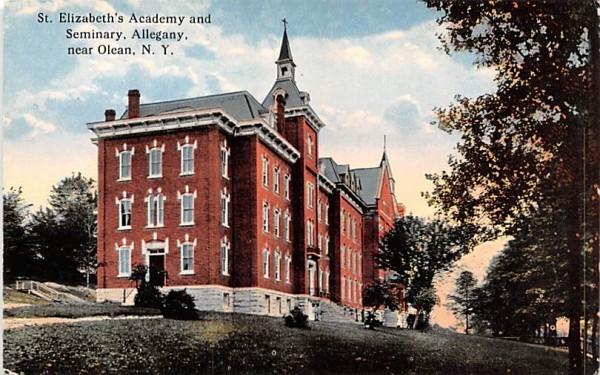 St Elizabeth's Academy & Seminary Olean, New York Postcard