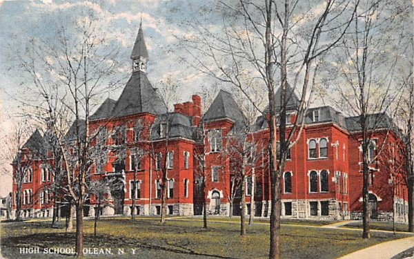 High School Olean, New York Postcard