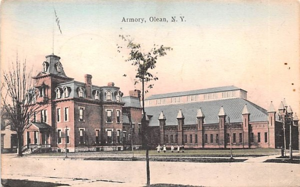 Armory Olean, New York Postcard