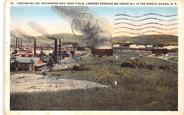 Vacuum Oil Co Refineries & Tank Field Olean, New York Postcard