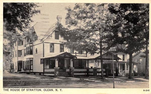 House of Stratton Olean, New York Postcard