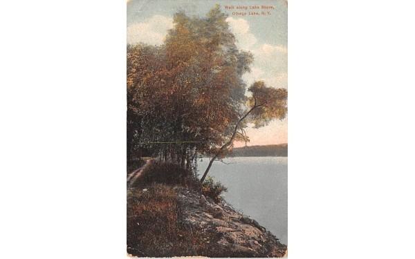 Walk along Lake Shore Otsego Lake, New York Postcard