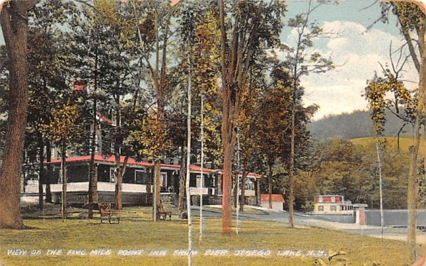 Five Mile Point Inn Otsego Lake, New York Postcard