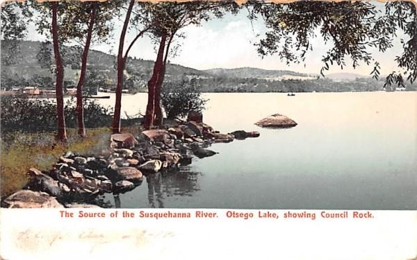 Source of the Susquehanna River Otsego Lake, New York Postcard