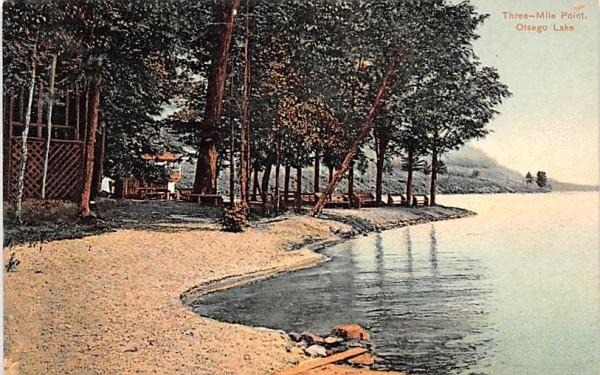 Three Mile Point Otsego Lake, New York Postcard