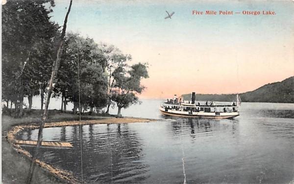 Five Mile Point Otsego Lake, New York Postcard