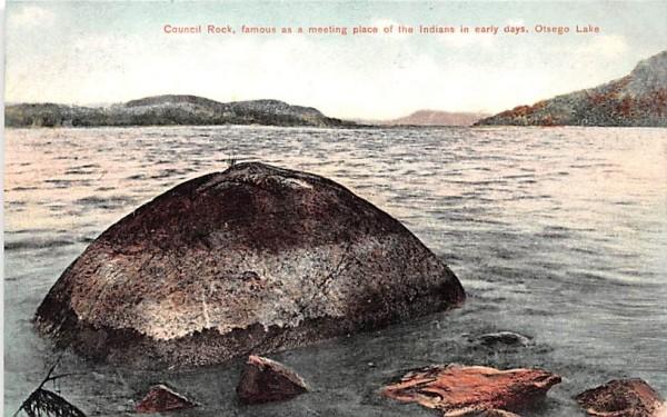 Council Rock Otsego Lake, New York Postcard