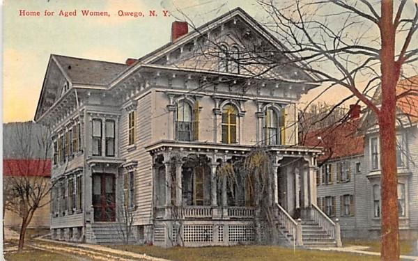 Home for Aged Women Owego, New York Postcard