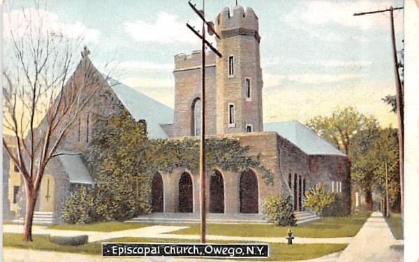 Episcopal Church Owego, New York Postcard