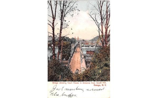 Bridge Owego, New York Postcard
