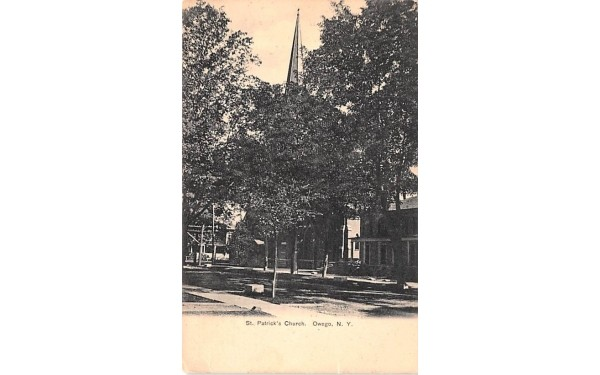 St Patrick's Church Owego, New York Postcard