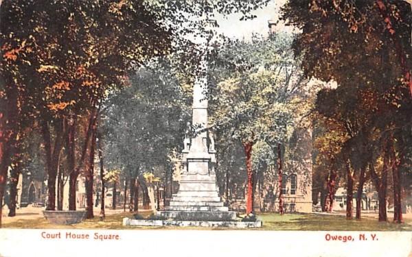 Court House Square Owego, New York Postcard
