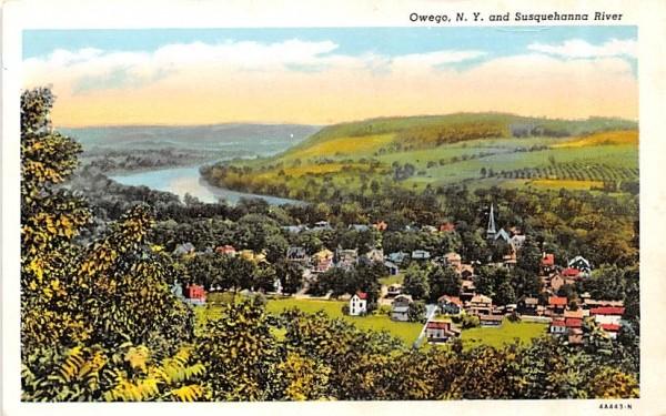 Susquehanna River Owego, New York Postcard