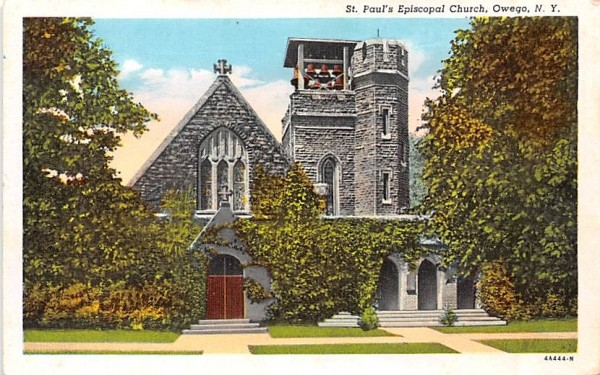 St Paul's Episcopal Church Owego, New York Postcard