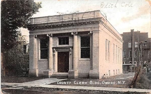 County Clerk Building Owego, New York Postcard
