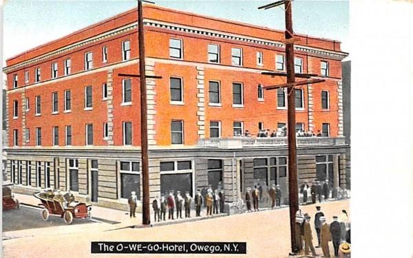 The O-We-Go Hotel Owego, New York Postcard