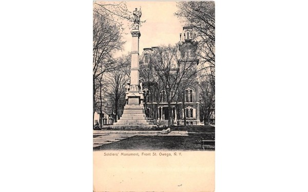 Soldiers' Monument Owego, New York Postcard