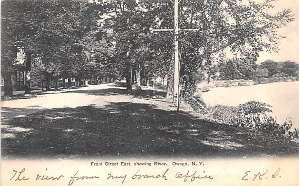 Front Street East Owego, New York Postcard