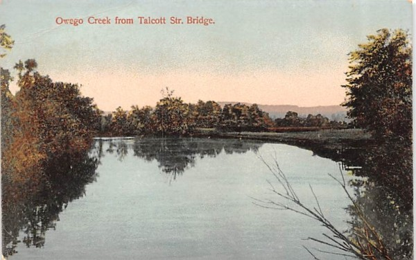 Owego Creek from Talcott Street Bridge New York Postcard