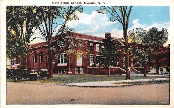 New High School Owego, New York Postcard