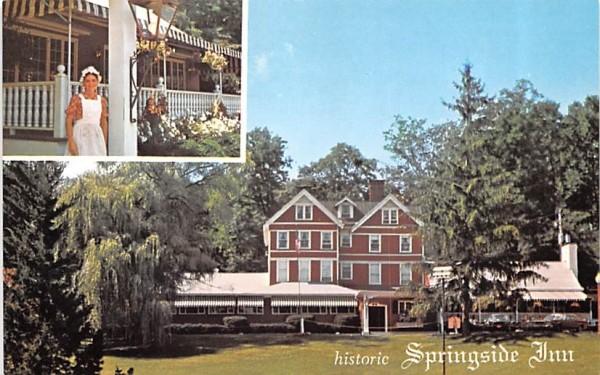 Historic Springside Inn Owego, New York Postcard
