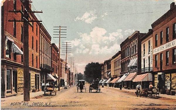 North Avenue Owego, New York Postcard