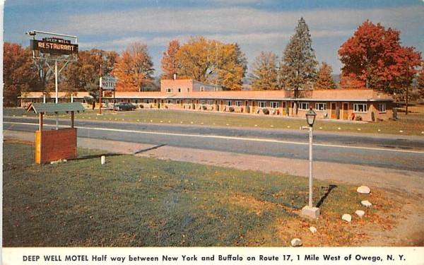 Deep Well Motel Owego, New York Postcard