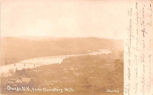 From Cemetery Hill Owego, New York Postcard