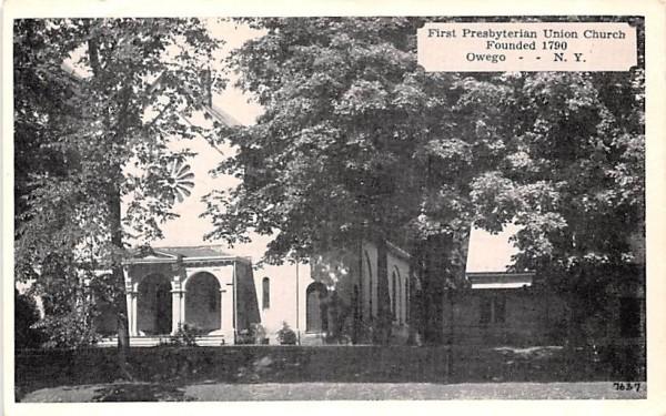 First Presbyterian Union Church Owego, New York Postcard