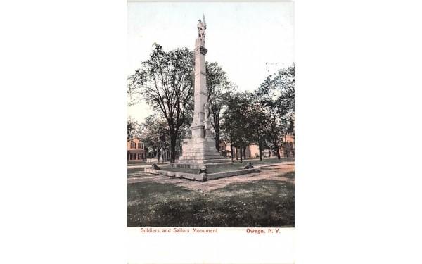 Solders & Sailors Monument Owego, New York Postcard