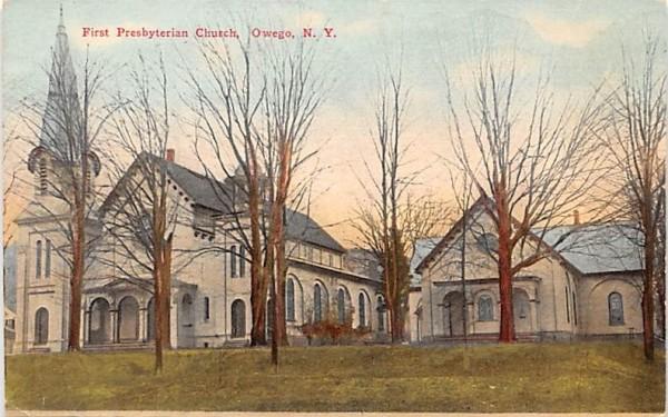 First Presbyterian Church Owego, New York Postcard