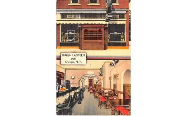 Green Lantern Inn Owego, New York Postcard