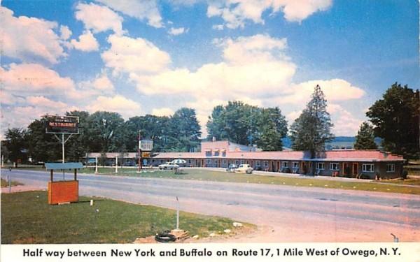 Deep Well Motel & Restaurant Owego, New York Postcard