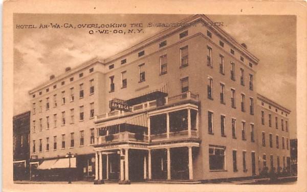 Hotel Ah-Wa-Ga Owego, New York Postcard
