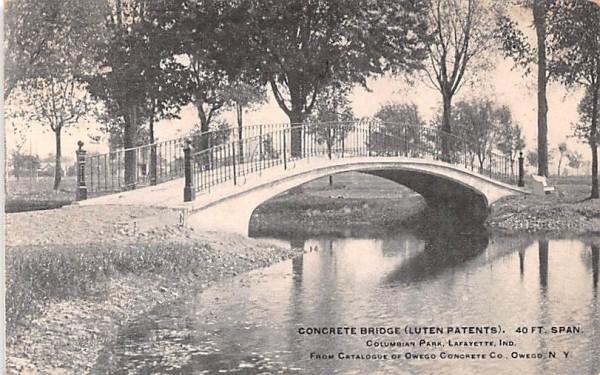 Concrete Bridge Owego, New York Postcard