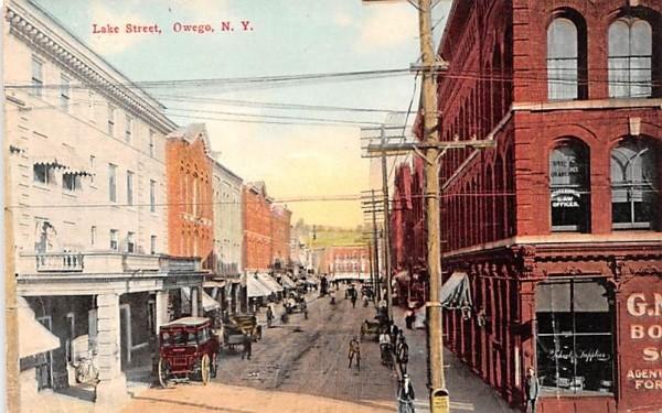 Lake Street Owego, New York Postcard