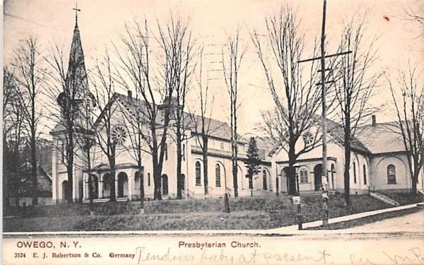 Presbyterian Church Owego, New York Postcard