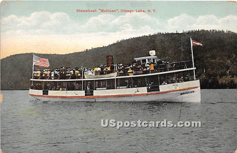 Steamboat Mohican - Otsego Lake, New York NY Postcard