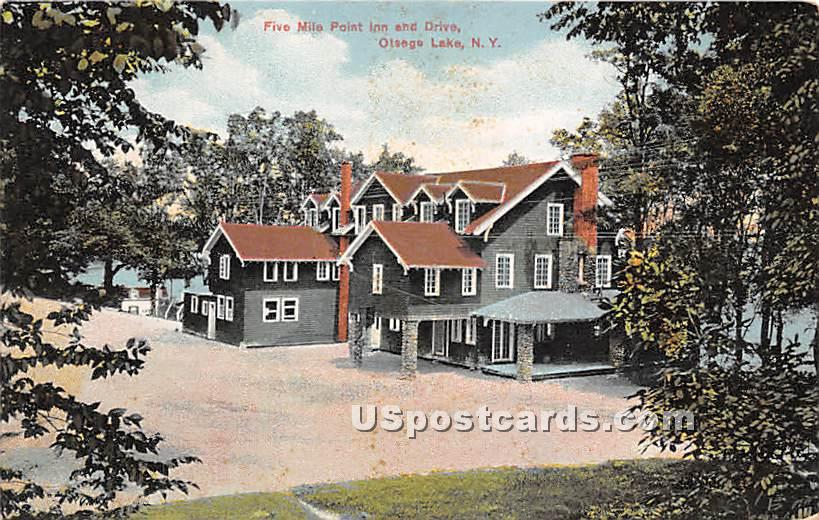 Five Mile Point - Otsego Lake, New York NY Postcard