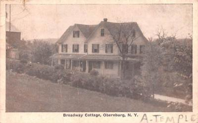 Broadway Cottage Obernburg, New York Postcard