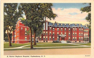 A Barton Hepburn Hospital Ogdensburg, New York Postcard
